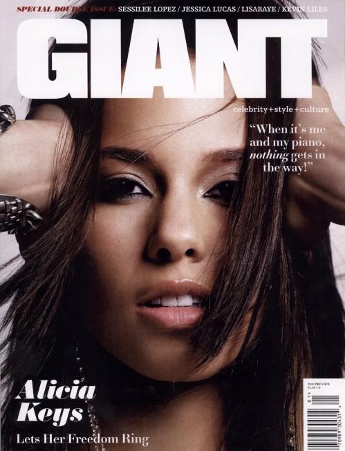 Alicia Keys Covers Giant Magazine Get Money Inc